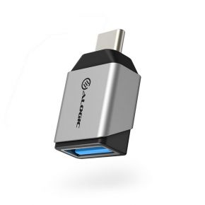 Alogic Ultra Mini USB 3.1 USB-C to USB-A Adapter Up to 5Gbps - Space Grey