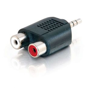 Alogic 3.5mm Stereo Audio to 2 X RCA Stereo ADAPTER  (1) Male to (2) Female