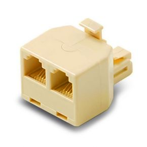 Alogic RJ12 Modular Line Splitter Split a Single to RJ12 Output to 2 Outputs