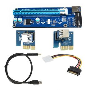 Astrotek PCI-E PCI Express 1x to 16x Adapter Riser Card Extension Power USB 3.0