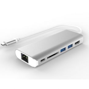 Astrotek All-in-One Dock Thunderbolt USB-C 3.1 Type-C to HDMI+USB3.0+Card Reader