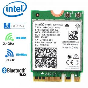 Intel 9260NGW 2.4G/5G 300Mbps + 1730Mbps Bluetooth 5.0 NGFF Combo Wifi Adapter