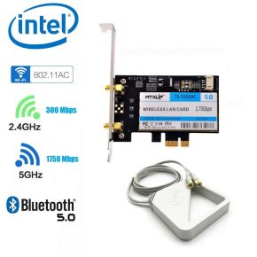 Intel 9260 Dual-Band 802.11ac 1730Mbps +Bluetooth 5 PCIe Desktop Wifi Card WTXUP