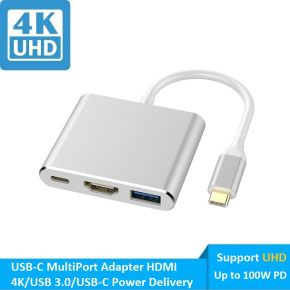 NewBee USB-C MultiPort Adapter HDMI 4K/USB 3.0/USB-C Power Delivery Up to 100w