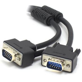 ALOGIC 10m VGA SVGA Shielded Monitor Cable With Filter  Male to Male VGA-MM-10