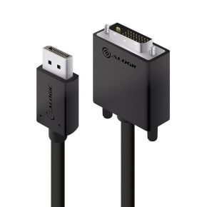 Alogic 2m Active DisplayPort to DVI-D Cable with 4K Support DP-DV4K-02-ACTV