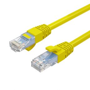 Cruxtec 1m Yellow CAT6 Network Cable 26AWG OFC(Oxygen Free Copper) Patch Lead