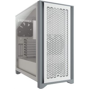 Corsair CC-9011201-WW 4000D Airflow Tempered Glass Mid-Tower ATX Case White with 2x 120mm Fans