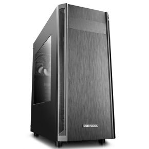 DeepCool D-Shield V2 ATX Mid Tower PC Case Black Houses VGA Card Up To 370mm