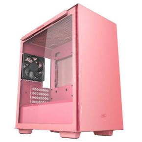 Deepcool Macube 110 Pink Tempered Glass Mini Tower Micro-ATX Computer Case