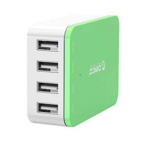 ORICO CSI-4U 4 Port AC USB Wall Charger- Green  iPhone /iPad /Galaxy/ AU Plug
