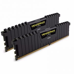 Corsair 32GB (2x16GB) DDR4 2666MHz Vengeance LPX Black Memory RAM PC