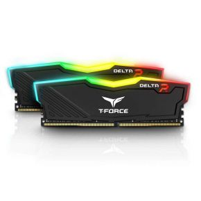Team Delta RGB 16GB (2x8GB) DDR4 Desktop Gaming Memory 3600MHz 1.35V DRAM Black