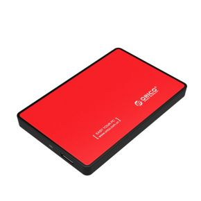"ORICO 2588US3 USB 3.0 External 2.5"" SATA SSD HDD Hard Disc Drive Enclosure Case Red"
