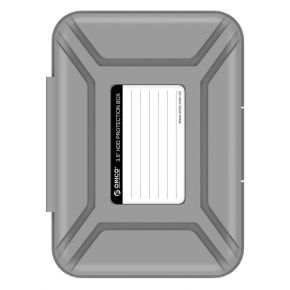 "Orico PHX-35 3.5"" HDD Hard Disk Drive Protection Enclosure Case Storage Box Gray"