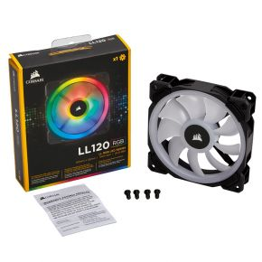 Corsair LL120 RGB 120mm Dual Light Loop RGB LED PWM Fan Single Pack