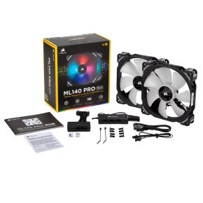 Corsair ML140 PRO RGB LED 140MM PWM Premium Magnetic Levitation Fan Twin Pack