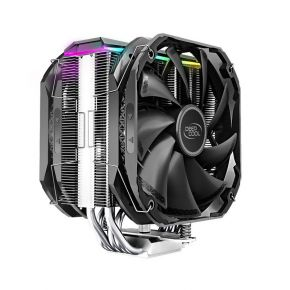 Deepcool AS500 Plus ARGB CPU Cooler, Slim Profile with TF140S PWM Fan, A-RGB LED