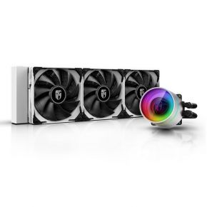 Deepcool Castle 360EX White CPU Liquid Cooler Addressable RGB with 3x 120mm Fan