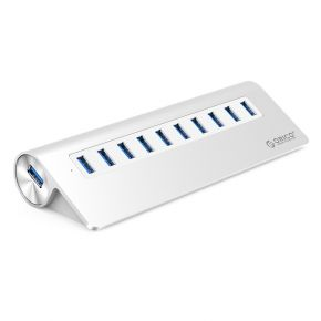 ORICO M3H10 Aluminum 10 Port USB3.0 Hub for Smartphones Laptops PC Apple Devices