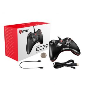 MSI Force GC20 Wired GAMING Controller for PC Windows/Android Dual Vibrations