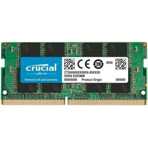 Crucial 16GB (1x16GB) DDR4 SODIMM 2666MHz CL19 Single Ranked Notebook Laptop RAM