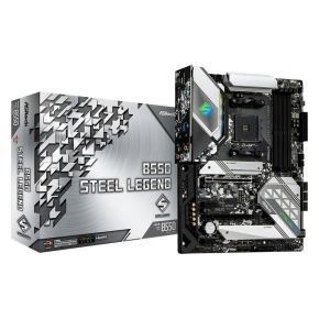 ASRock B550 Steel Legend Motherboard AMD AM4 ATX M.2 MB DisplayPort HDMI Output