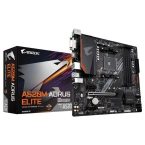 Gigabyte A520M Aorus Elite Motherboard AMD AM4 Micro ATX MB 1xHDMI 1xDVI Output