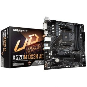 Gigabyte A520M DS3H AC Motherboard Micro ATX with Intel Dual Band 802.11ac Wifi