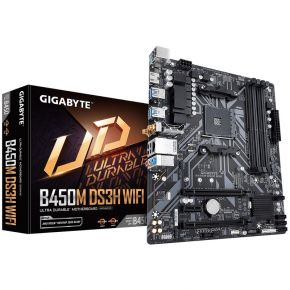 Gigabyte B450M DS3H Wifi Motherboard with Intel Dual Band 802.11ac, HDMI Output