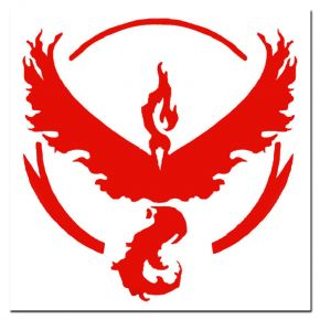 High Quality Pokemon Go Team Valor Pokeball Vinyl Sticker Decal