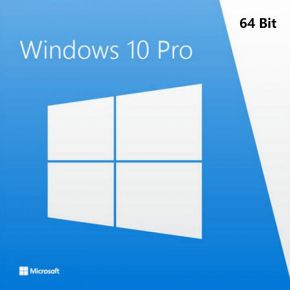 Genuine Microsoft Windows 10 PRO 64 Bit Full Version with DSP OEI DVD Disc & Key