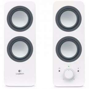 Logitech Multimedia Speakers Z200 Stereo Sound Multiple Device White 3.5mm AC