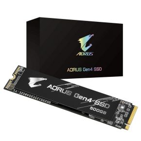 Gigabyte 500GB M.2 Aorus Gen4 Solid State Drive PCI-Express 4.0 x4, NVMe 1.3 SSD