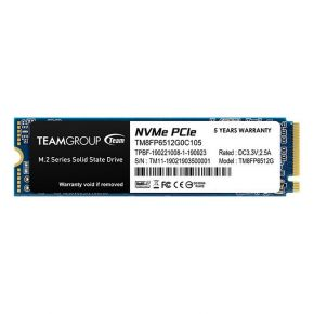 Team MP33 512GB M.2 2280 PCIe Solid State Drive 3D Flash Memory NVMe 1.3 SSD