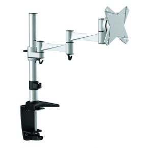Astrotek Single Monitor Stand Desk Mount upto 27 Silver Tilt Swivel Rotate VESA