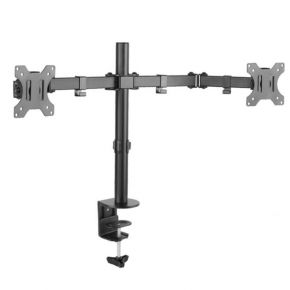 "Brateck Economy Dual Monitor Steel Monitor Arm Up to 32"" Detachable VESA Plate"