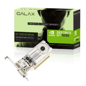 Galax GT 1030 EX White 2GB GDDR5 64-bit HDMI 2.0b/DVI-D Graphics Video Card