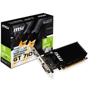 MSI Geforce GT 710 2GD3H LP PCIe 2GB Video Graphic Card Low Profile DVI/HDMI/VGA