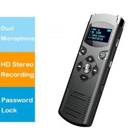 Hnsat DVR-616 Digital Voice-Activated Voice Recorder Dual Microphone HD Stereo Recording