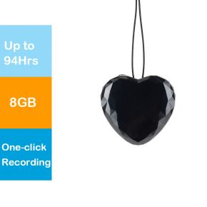Hnsat WR02 Stylish 8GB Mini Heart Keychain Voice Recorder Pendant Voice Recorder