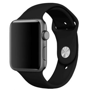 NewBee Sports Silicone Bracelet Strap Band For Apple Watch IWatch 38/40mm Black
