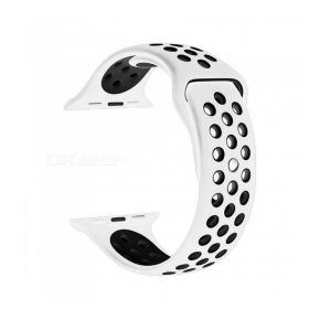 NewBee Sports Silicone Bracelet Strap Band For Apple Watch iWatch 38mm White/Black