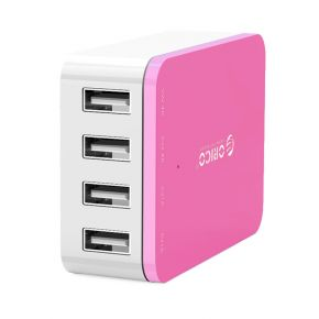 ORICO CSI-4U 4 Port AC USB Wall Charger- Rose Red  iPhone /iPad /Galaxy/ AU Plug