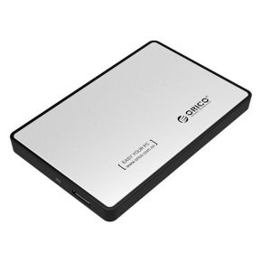 "ORICO 2588US3 USB 3.0 External 2.5"" SATA SSD HDD Hard Disc Drive Enclosure Silver"