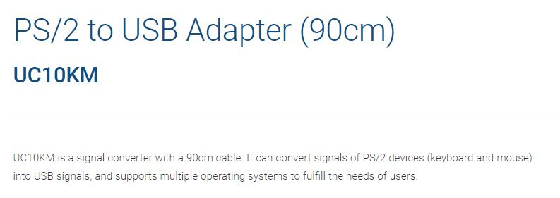 Aten PS/2 to USB Adapter Cable(90cm)