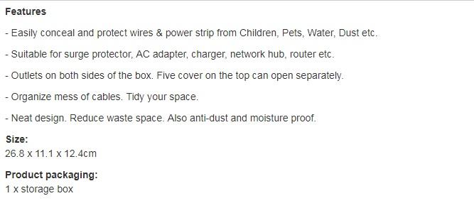 NewBee Management Wire Organizer Socket Storage Box Large Capacity