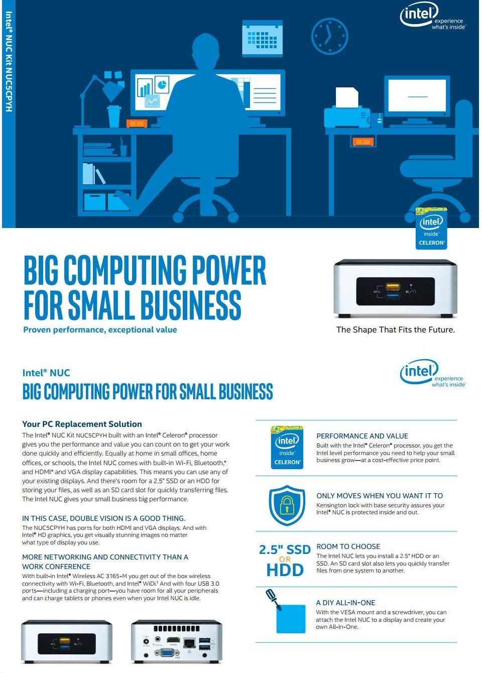 Intel BOXNUC5CPYH NUC Celeron 2.5