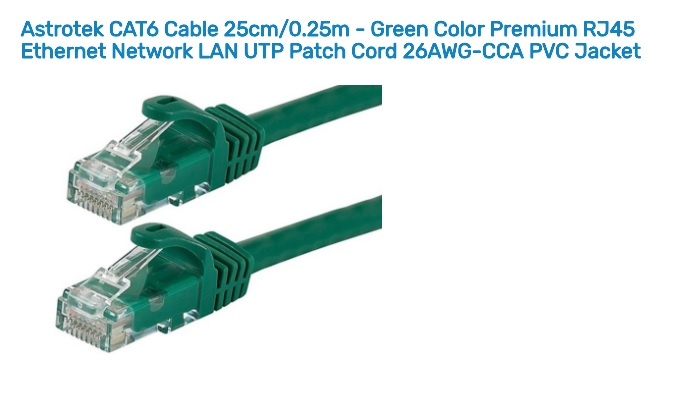 Astrotek 0.25m/25cm CAT6 Cable Green Premium RJ45 Ethernet Network LAN UTP Cable