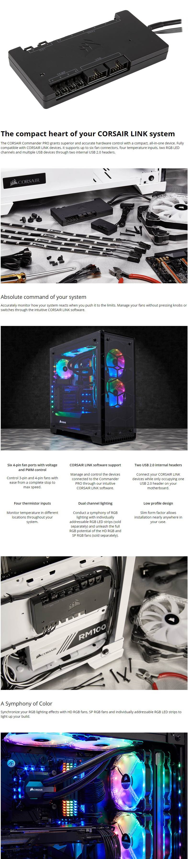 Corsair Commander PRO Digital Fan Hub and RGB Lighting Controller
